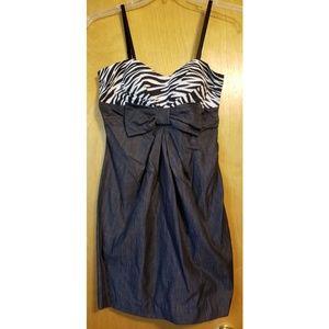 🌼JUST IN🌼Rue21 Zebra Print Dress w/ Bow - NWT L
